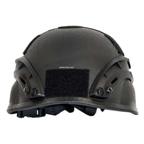 MICH 2000 AIRSOFT HELMET W RAILS BLACK