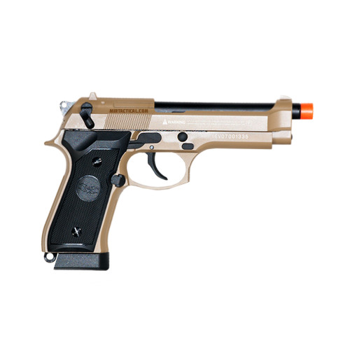 VT92D CO2 AIRSOFT METAL PISTOL TAN