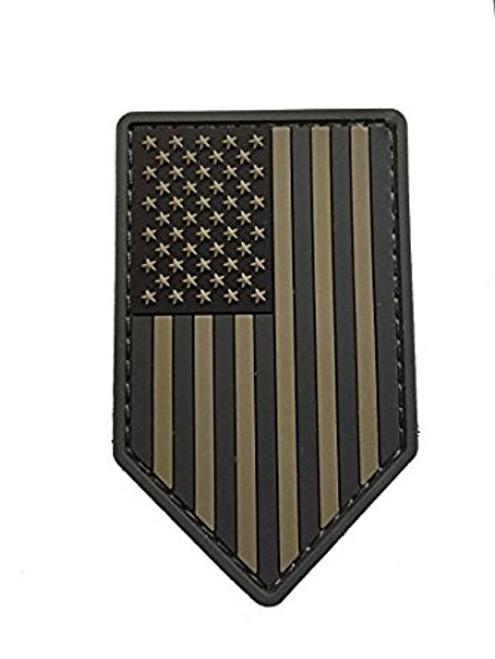 US FLAG VERTICAL SHIELD PVC MULTICAM PATCH