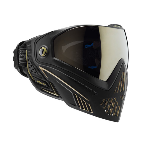 DYE I5 PAINTBALL MASK ONYX GOLD BLACK