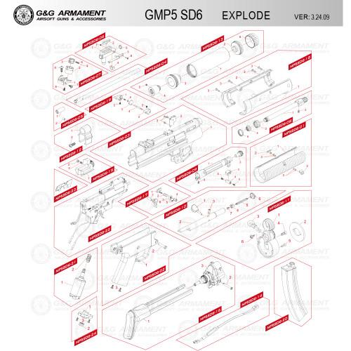 G&G AIRSOFT GMP5 SD6 RIFLE DIAGRAM