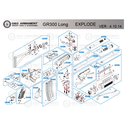 G&G AIRSOFT GR300 LONG RIFLE DIAGRAM