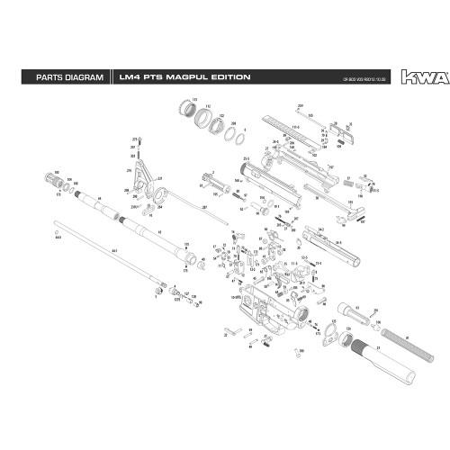 KWA AIRSOFT LM4 PTS MAGPUL EDITION RIFLE DIAGRAM