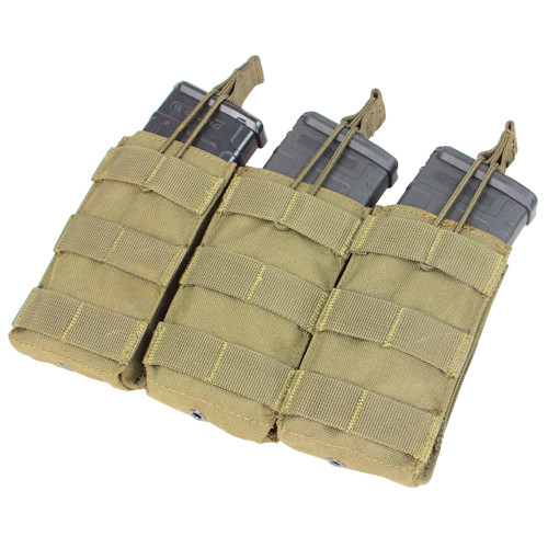 TRIPLE M4/M16 OPEN MAG POUCH TAN