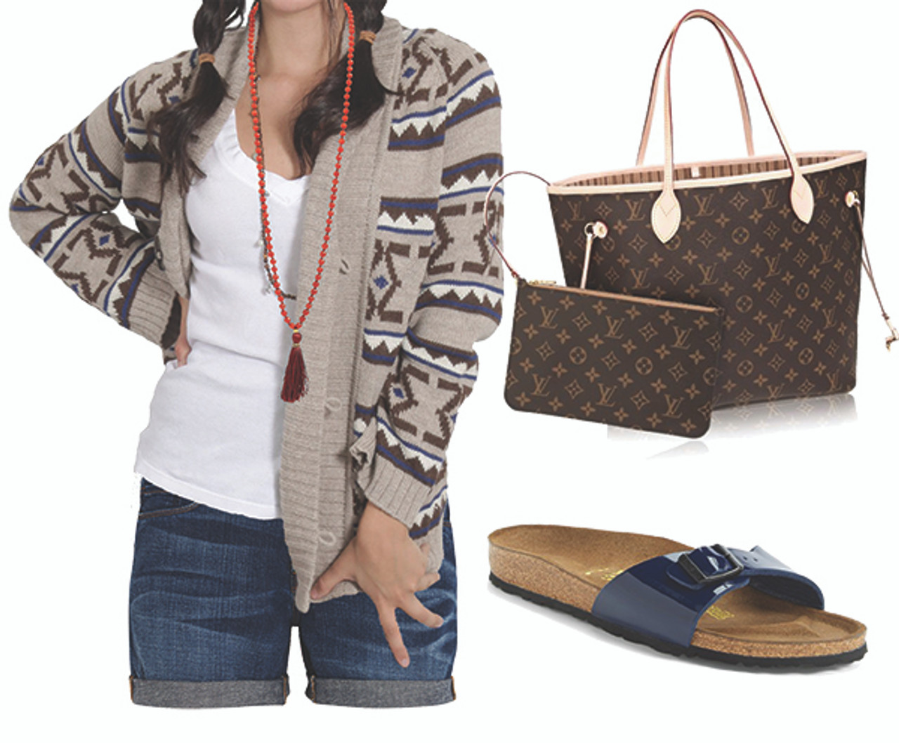 How to Style An Aztec Print Cardigan