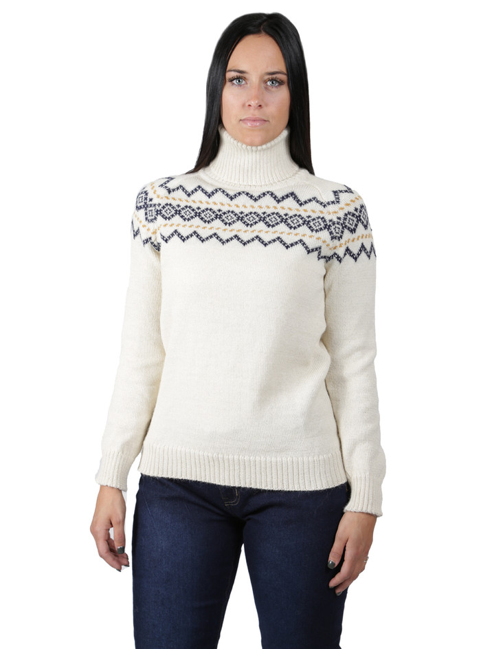Vintage Ski Turtleneck - Fair Isle  Front