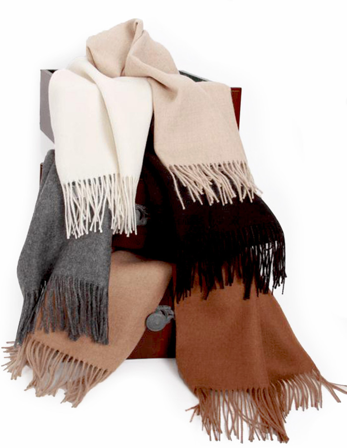Classic Alpaca Scarves Natural Dye-free Colors