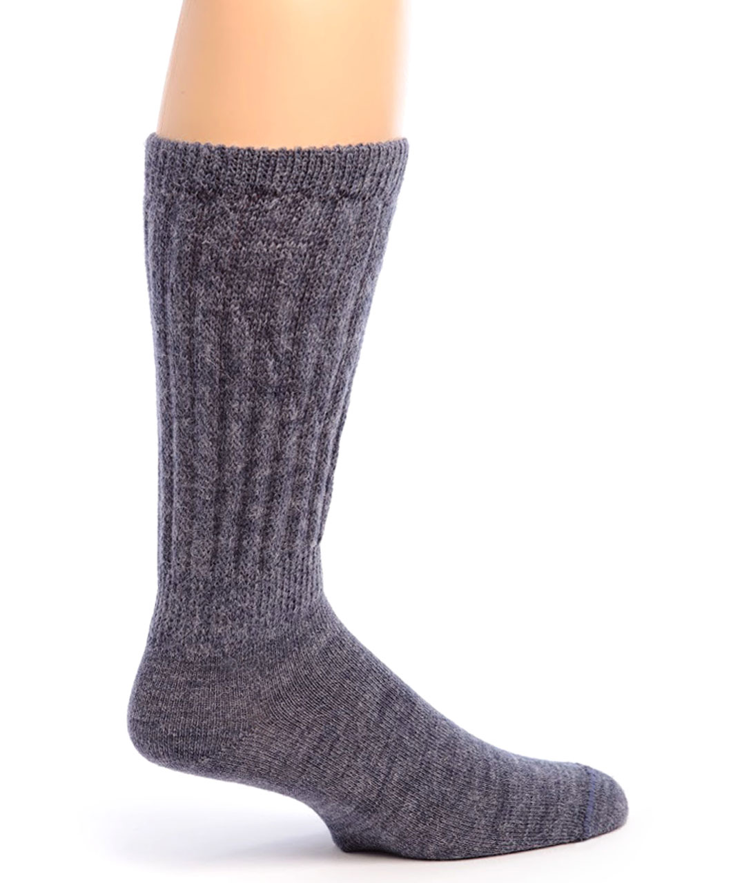 Therapeutic Alpaca Socks Side Denim