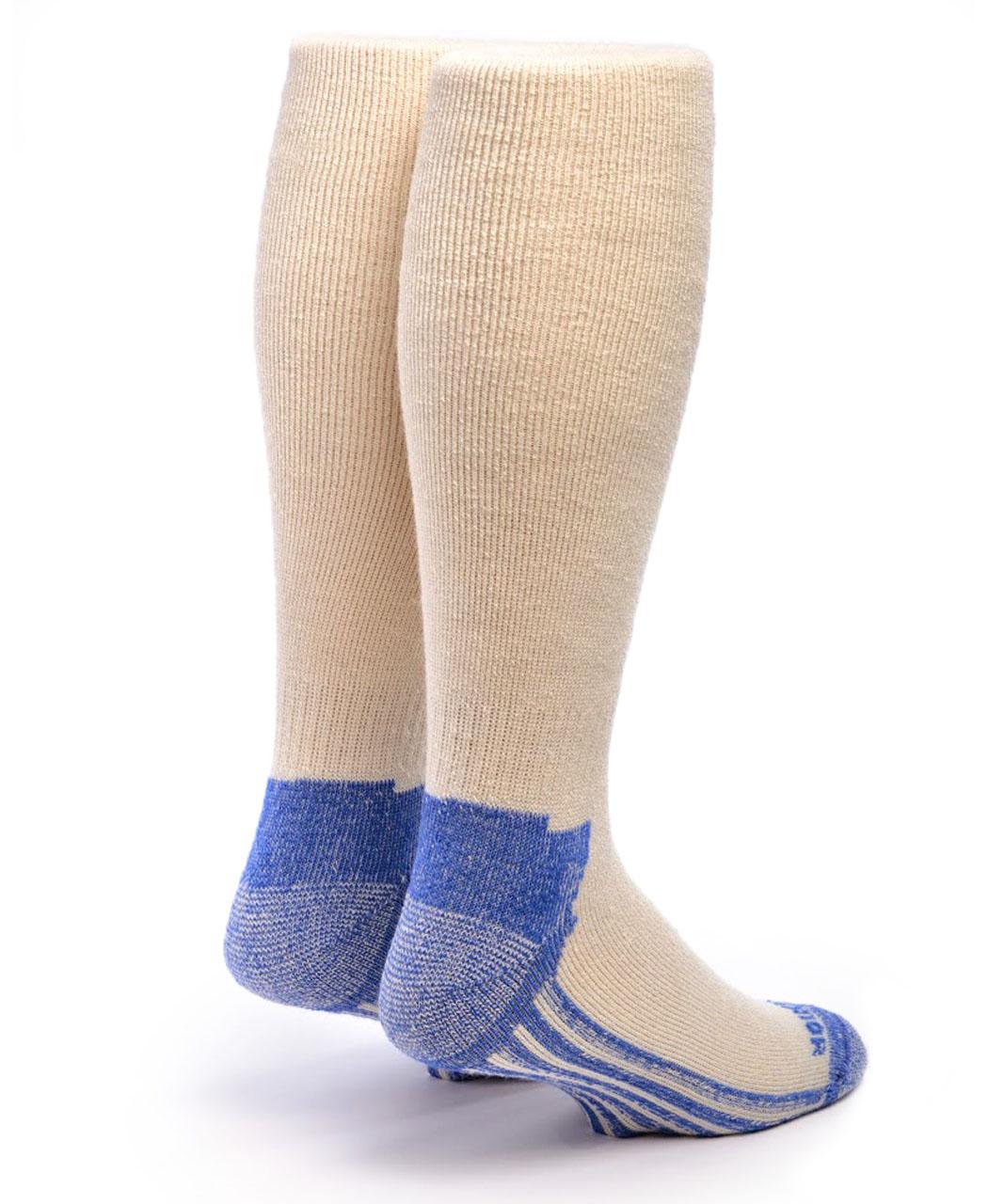 High Performance Knee High Athletic Alpaca Socks Back  White