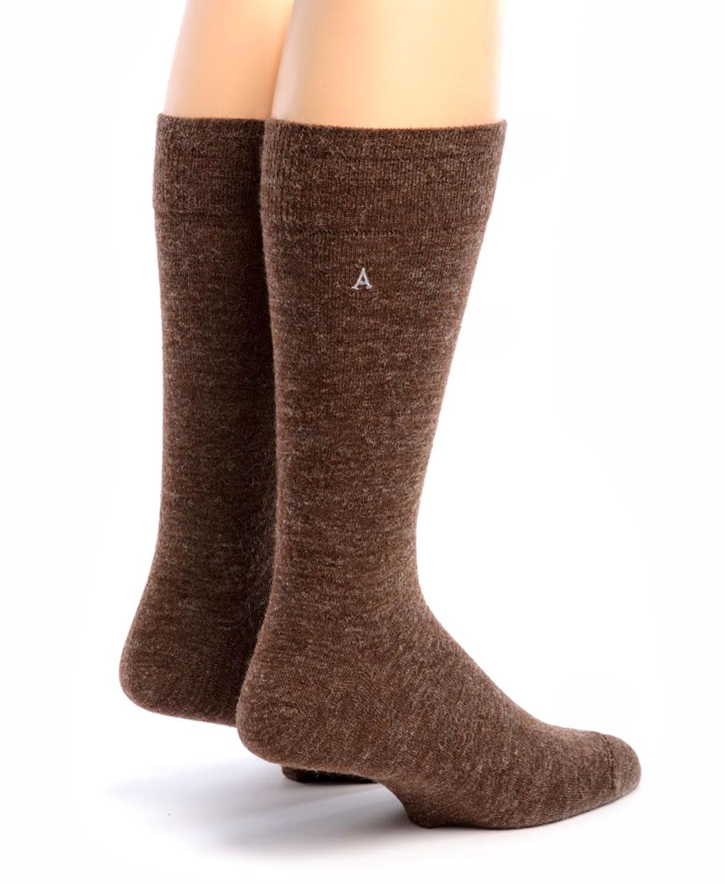Men's Alpaca Trouser Socks Walnut Back