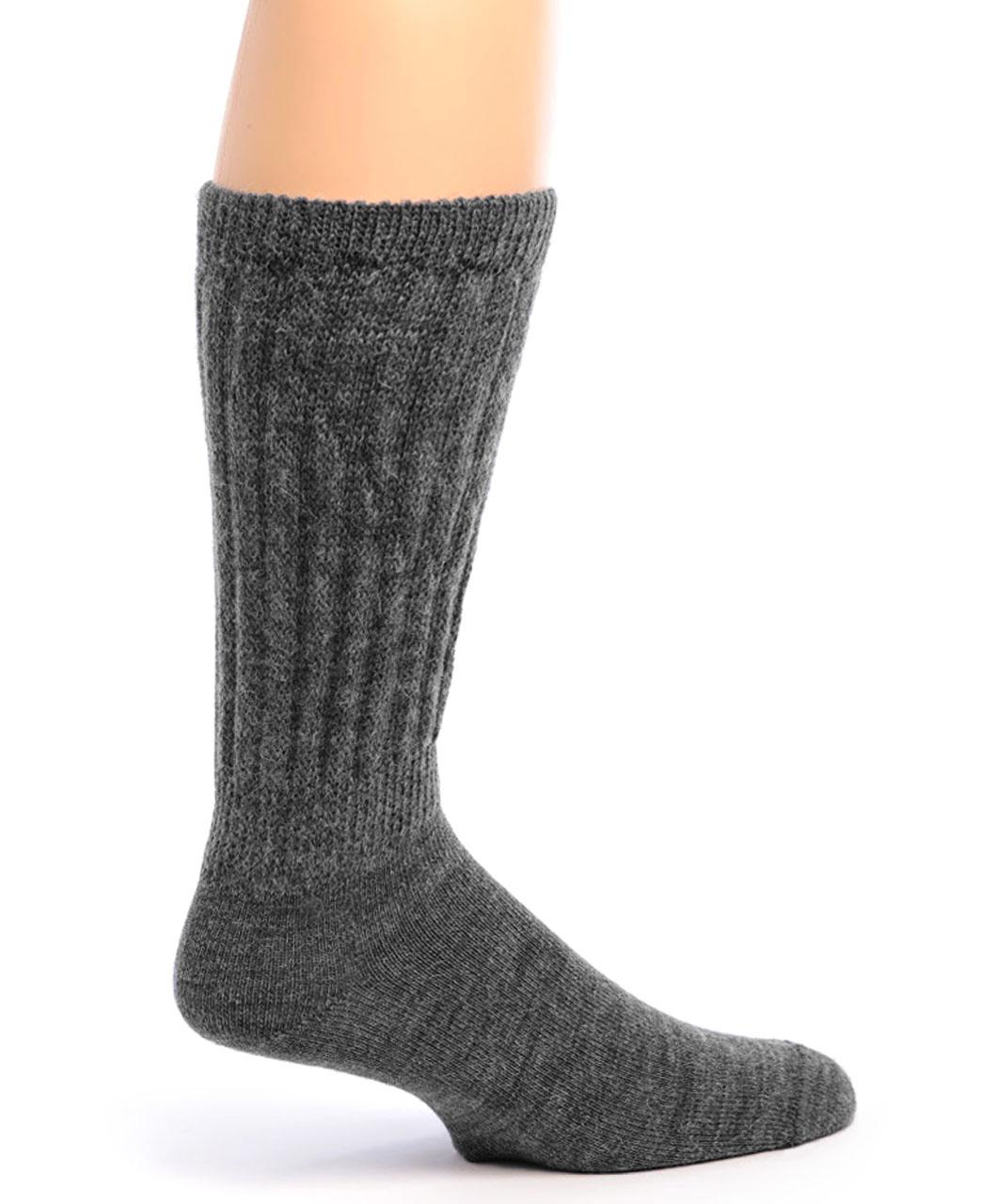 Wide Calf Alpaca Socks Side