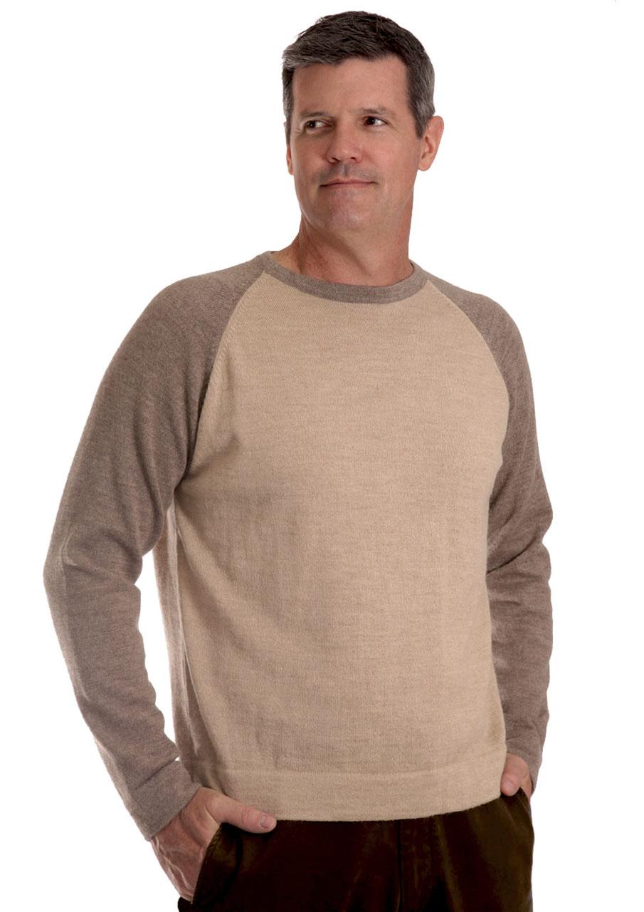 Men S Baseball Pullover Sweater Modern Colorblock In