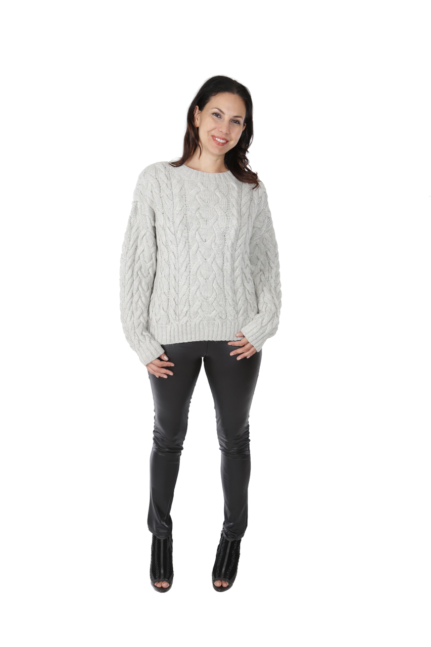 Alexa Cable Pullover Sweater  Full Size