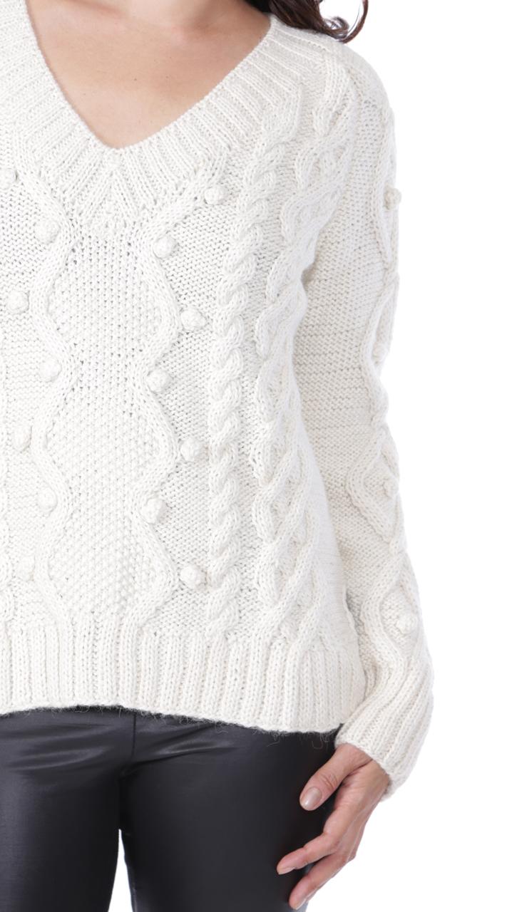 Olivia Aran V-Neck Detail