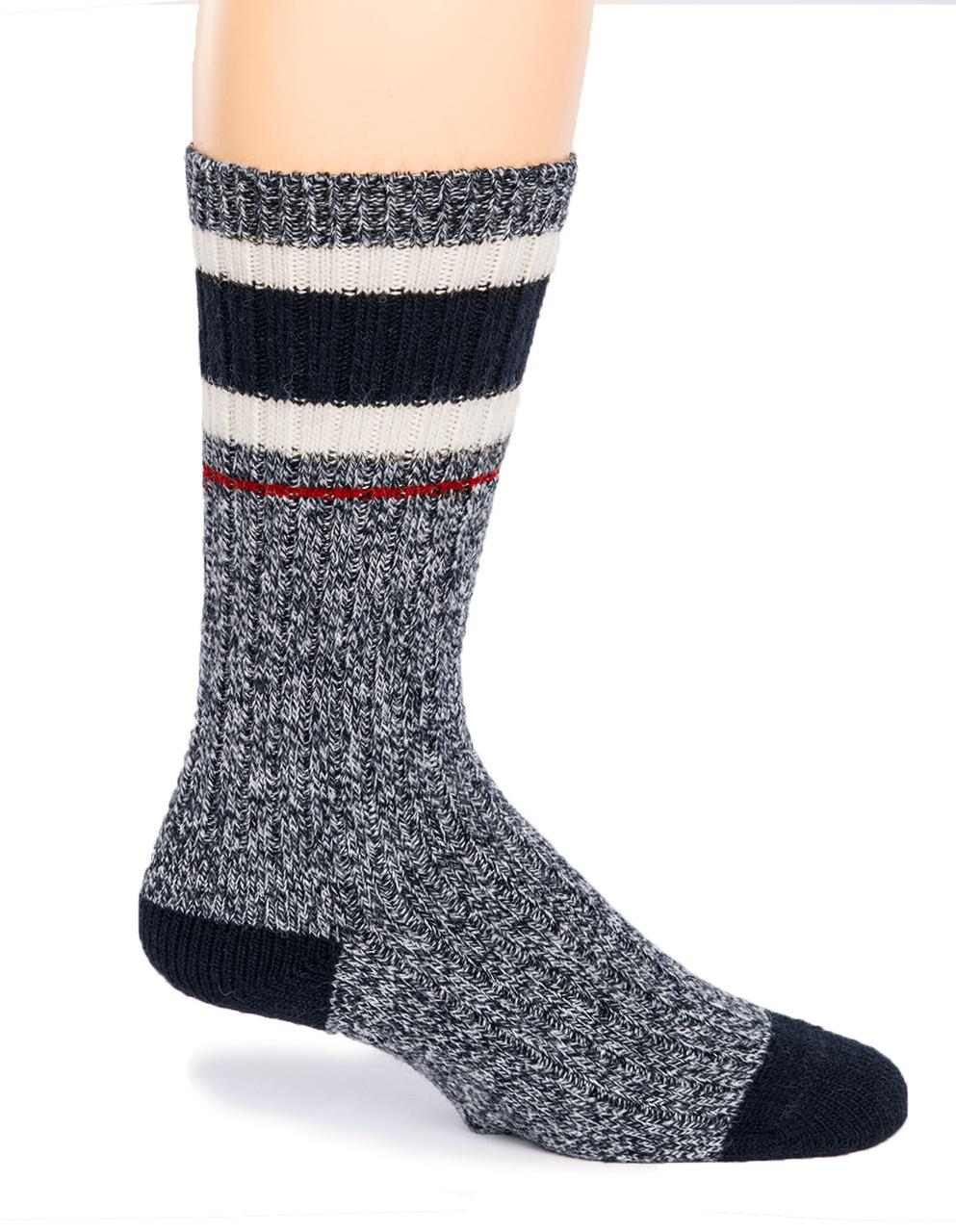 Old School Athletic Striped Socks - Side