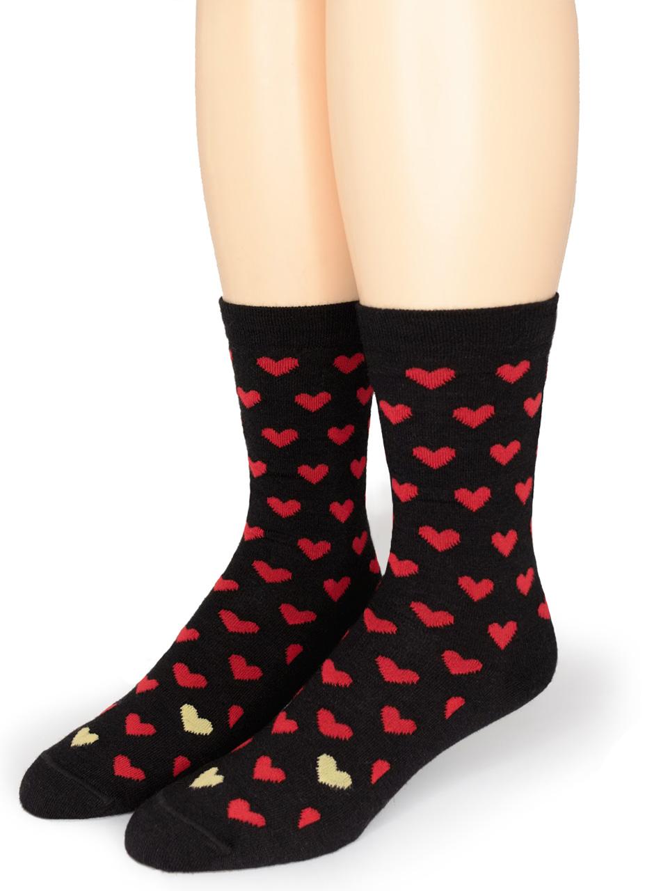 Alpaca Found Hearts Socks Front Medium