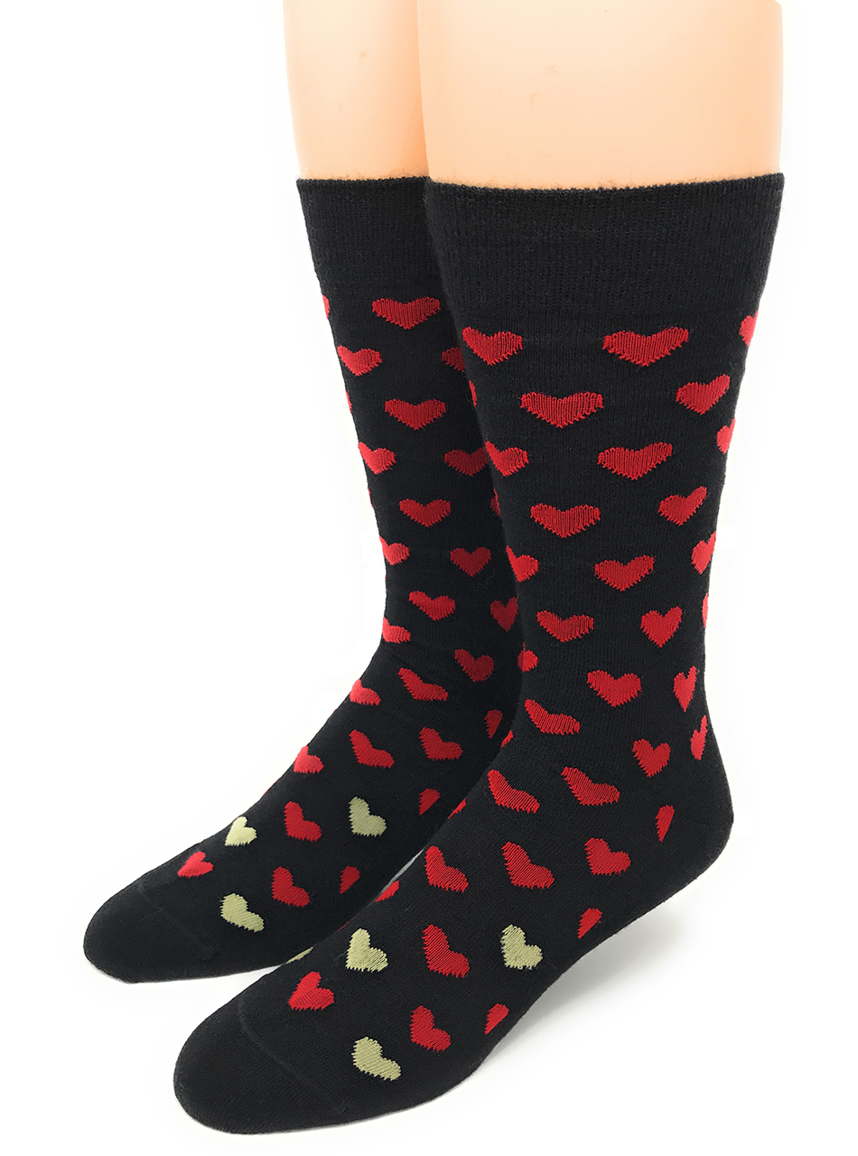Alpaca Found Hearts Socks Front Large
