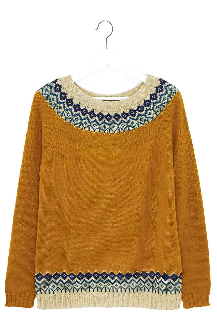 Modern Mayfair Fair Isle Pullover Hanging Front