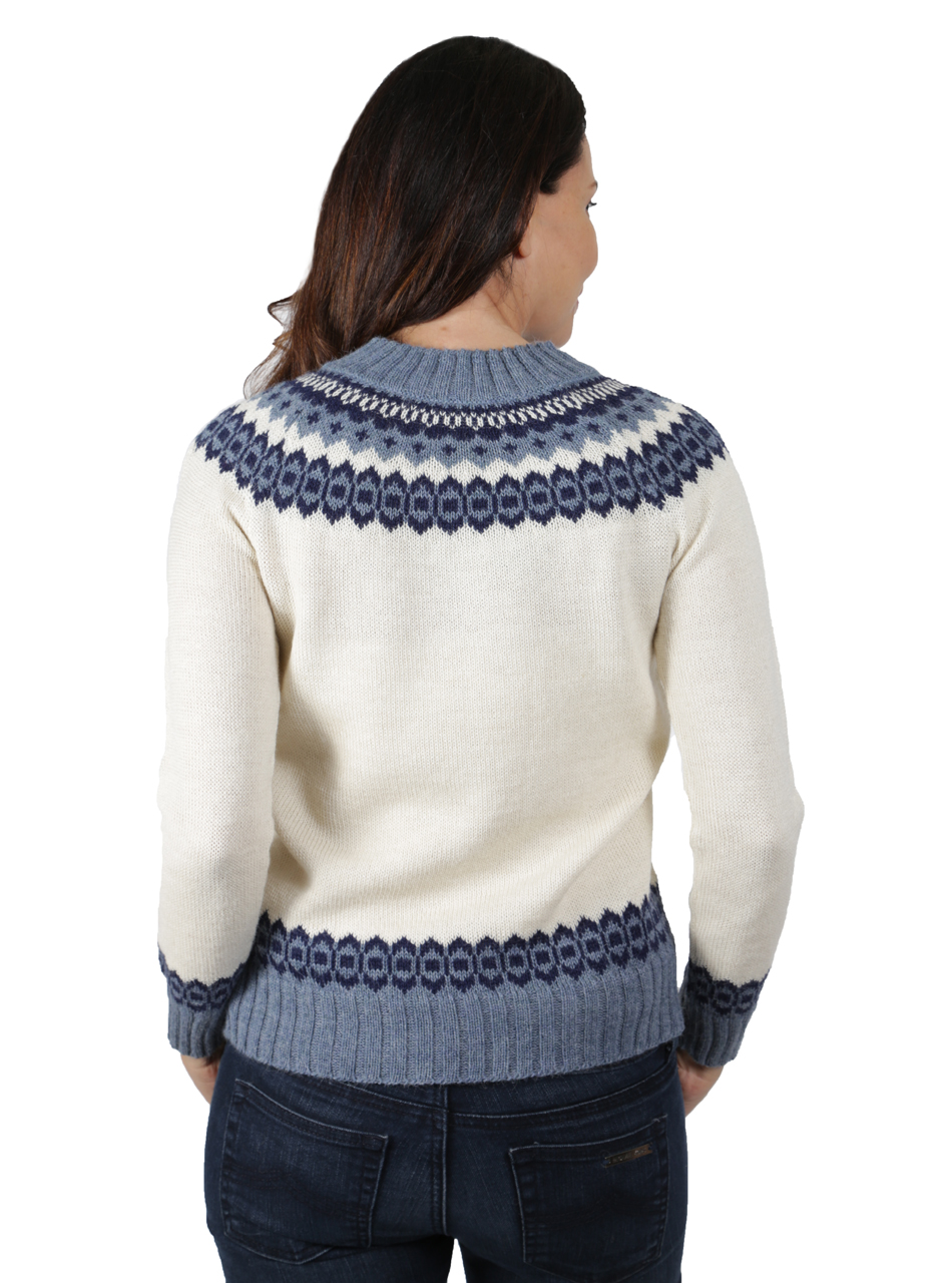 Baltic Sea Fair Isle Crew Pullover Back