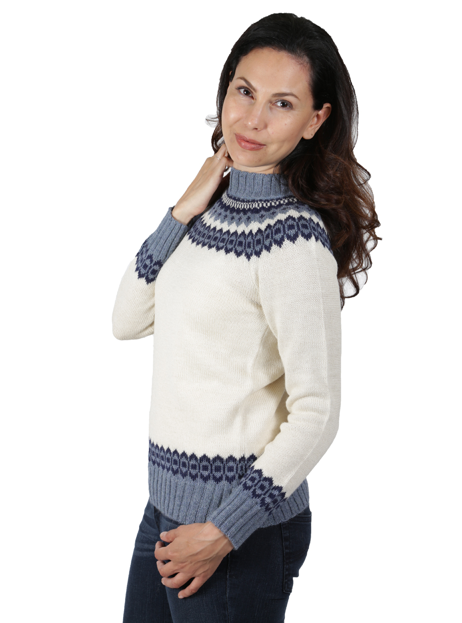 Baltic Sea Fair Isle Crew Pullover Side