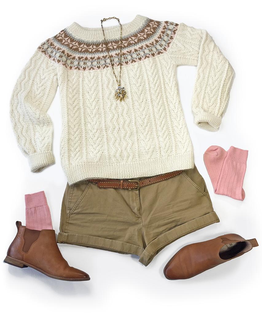 "Hand Knit Fair Isle Fisherman Sweater Style layout ""First Fall"""