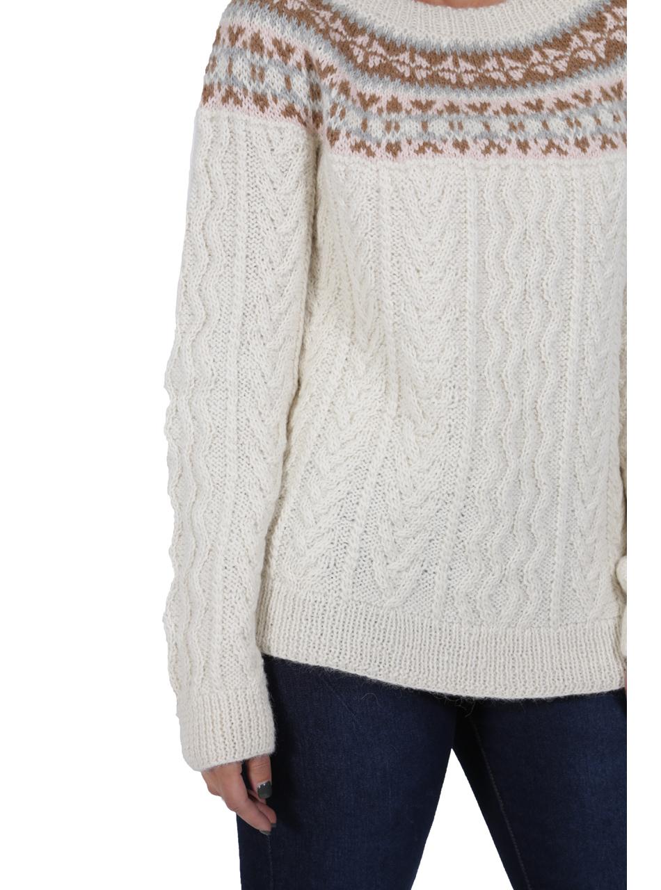 Hand Knit Fair Isle Fisherman Sweater Detail