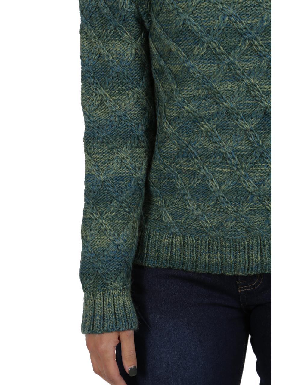 Lattice Knit Alpaca & Wool Pullover Detail