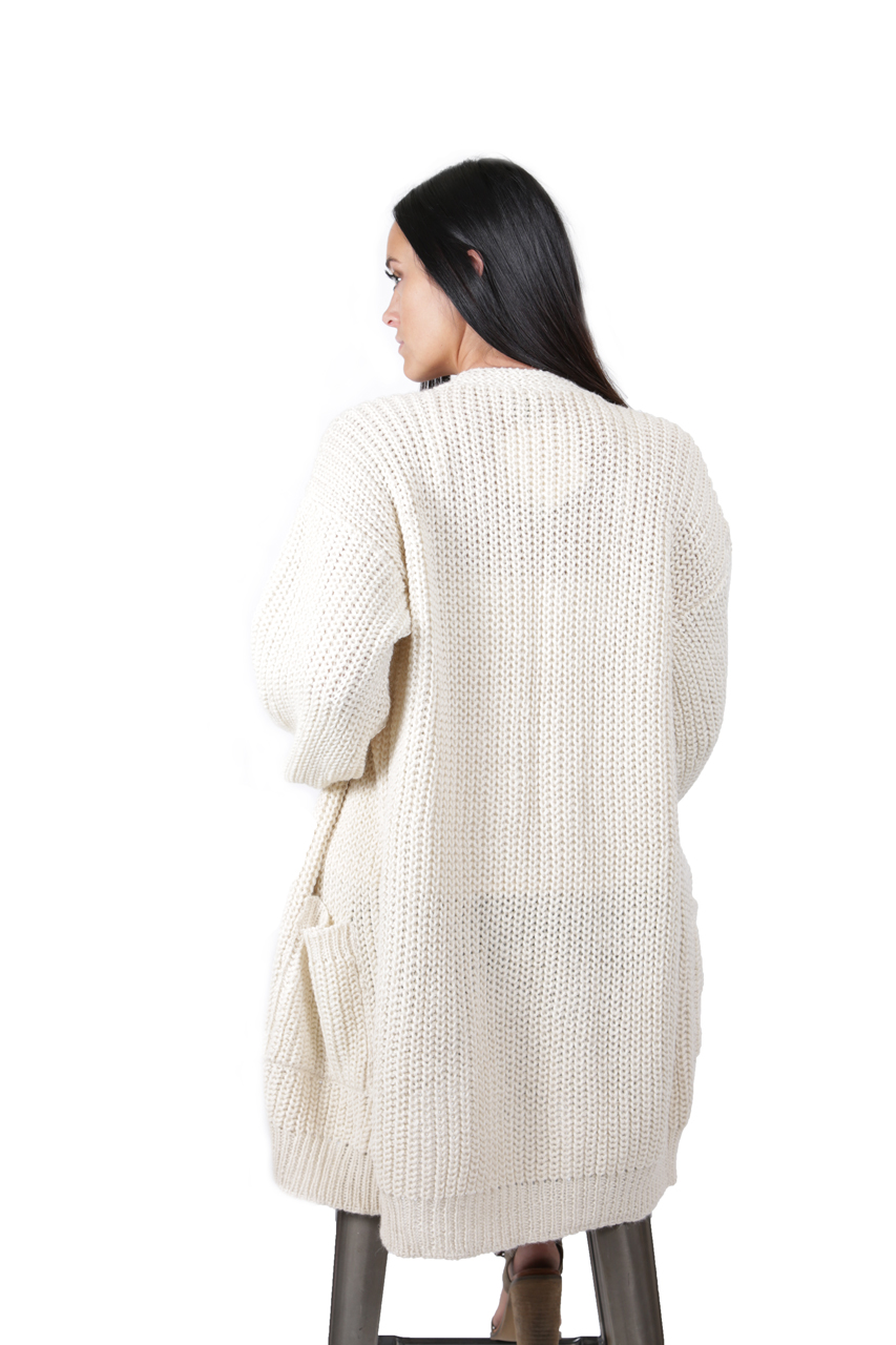 Forever Cardigan with Pockets Back