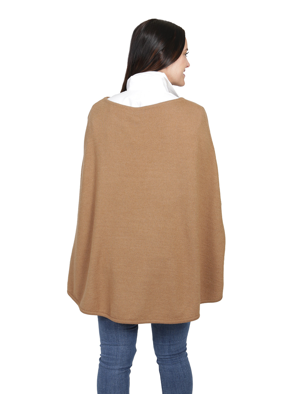 Women's Hailey Baby Alpaca Belle Poncho - Butterscotch Back
