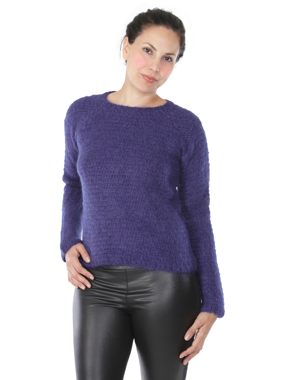 Daphne Crochet Pullover  Front on Model