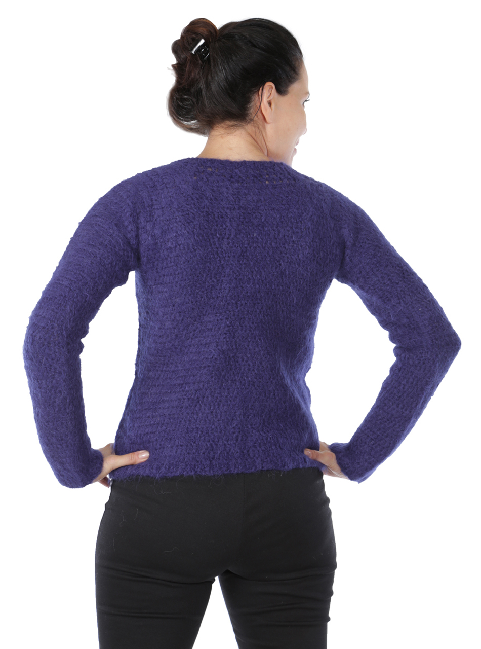 Daphne Crochet Pullover  Back on Model