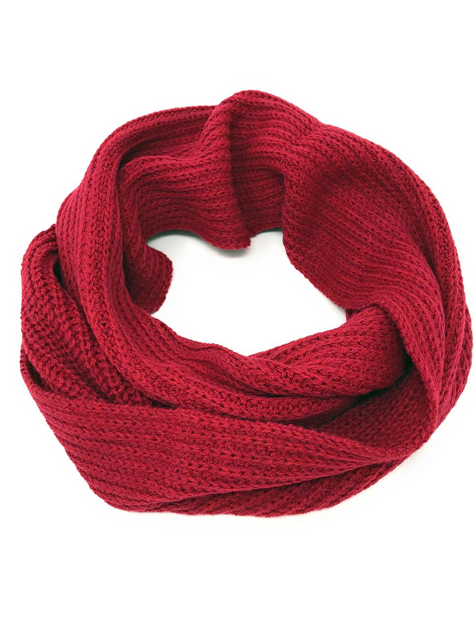 Hand Knit Infinity Circular Scarf / Snood - Alpaca Wool & Acrylic Snood only