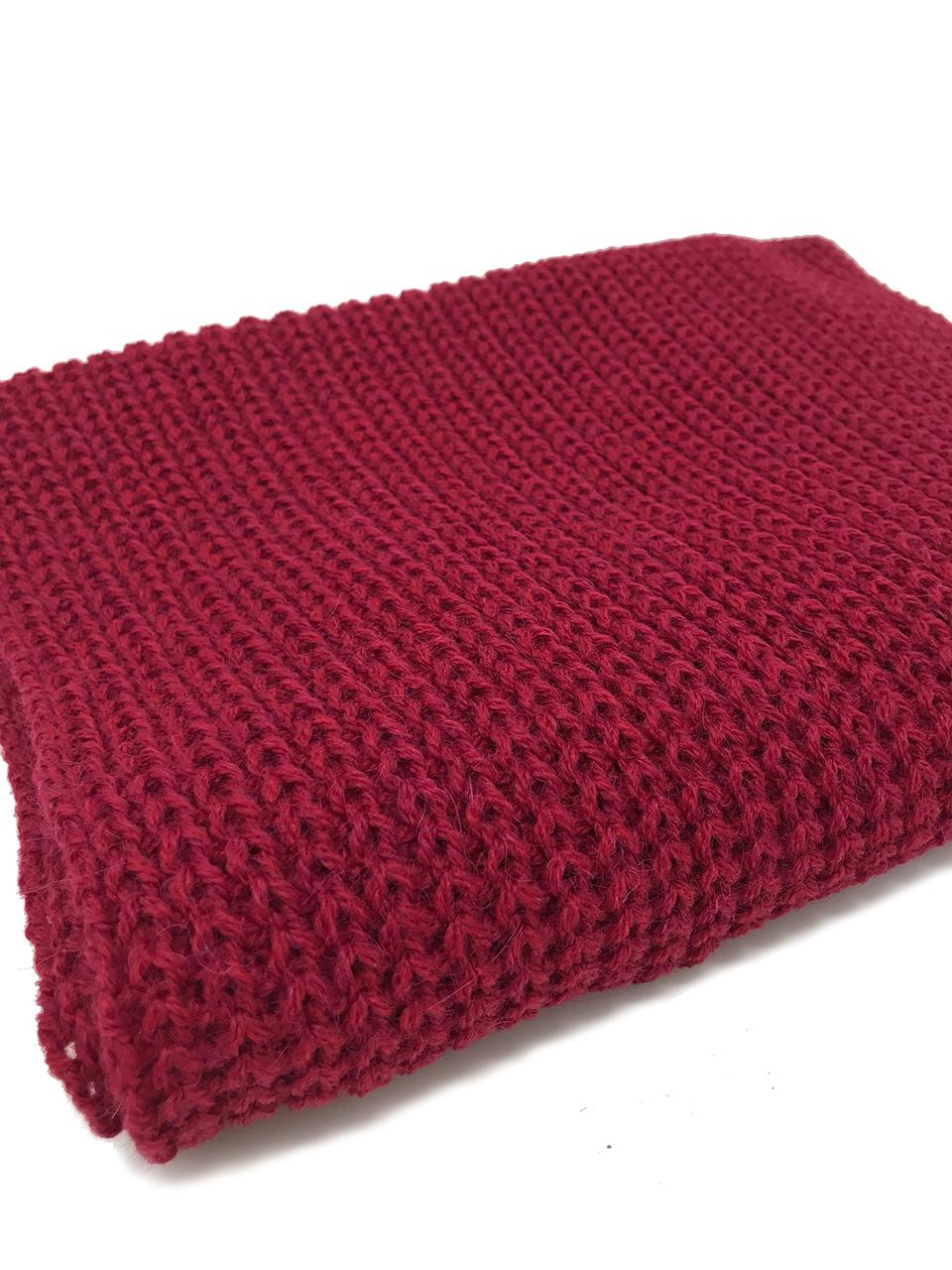Hand Knit Infinity Circular Scarf / Snood - Alpaca Wool & Acrylic Folded showing detail