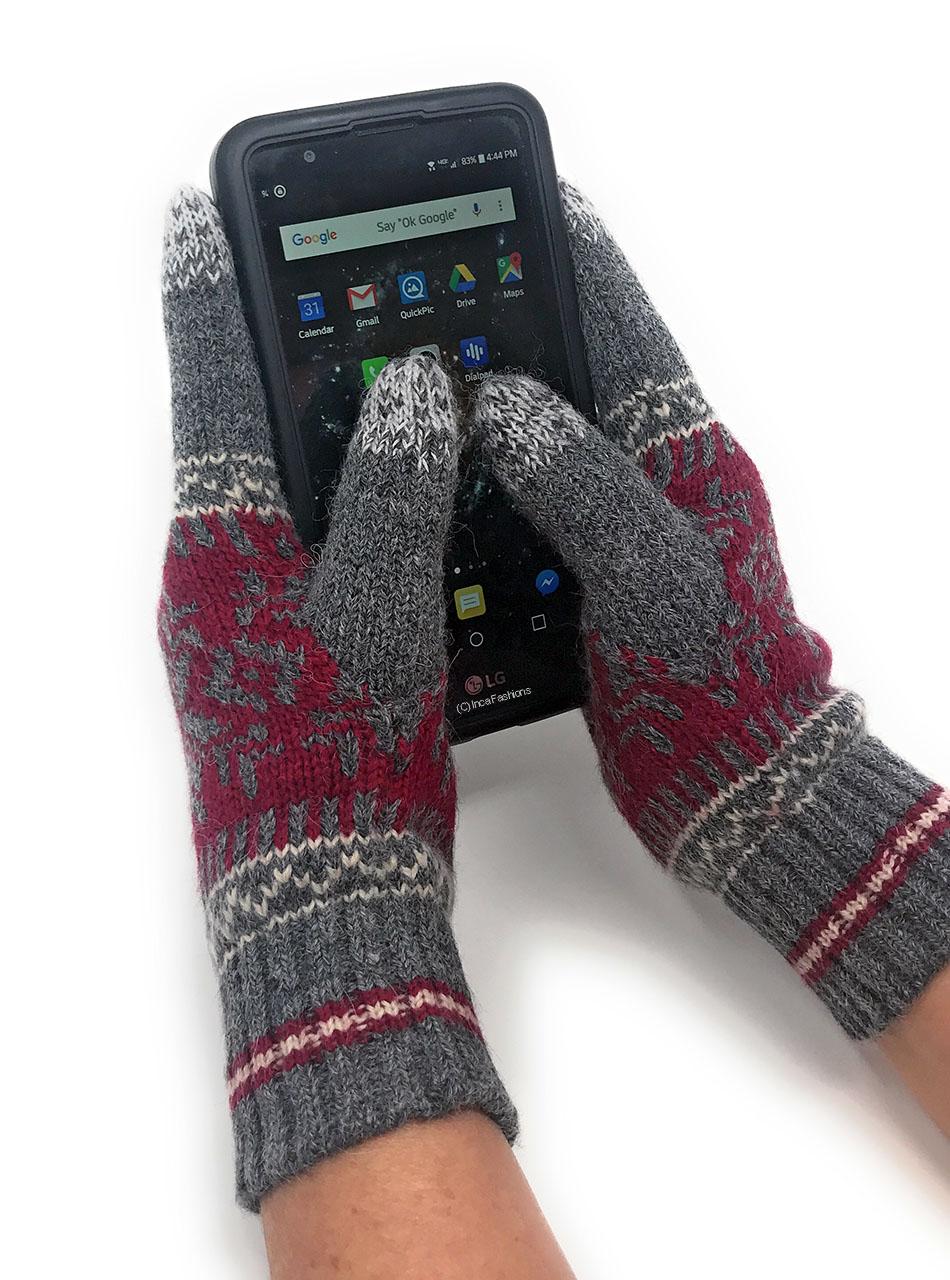 Nordic Touch Screen Gloves - Alpaca & Acrylic MAIN