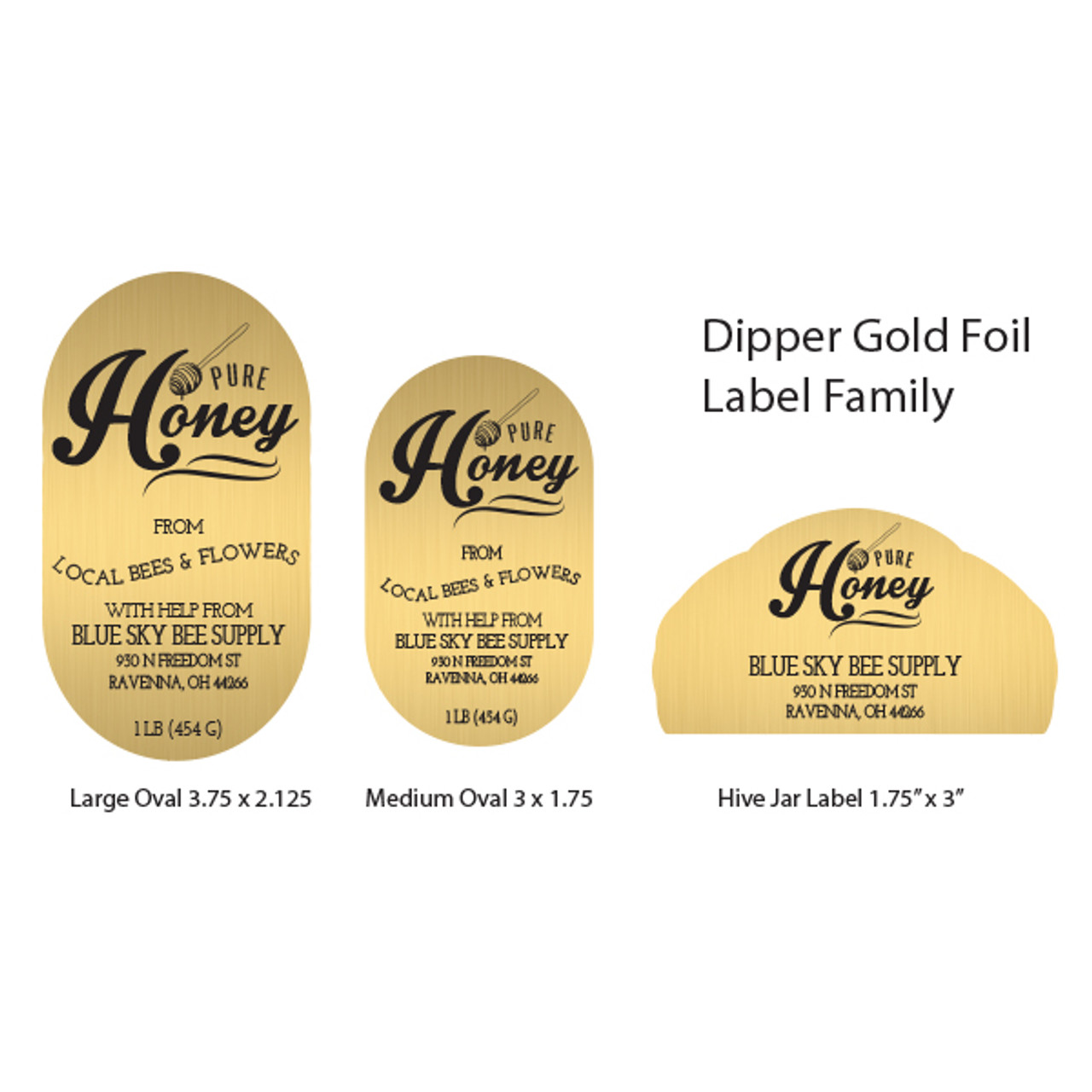 Popular Gold Foil Labels - blueskybeesupply.com DQ64
