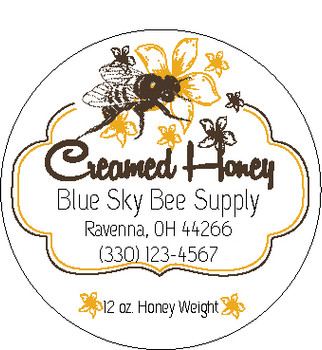 Creamed Honey Labels