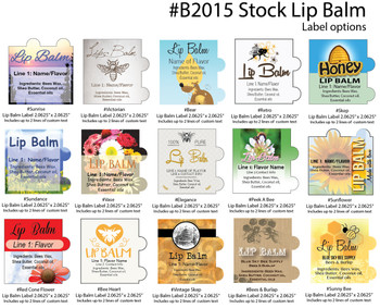 Stock Lip Balm Labels [B2015]