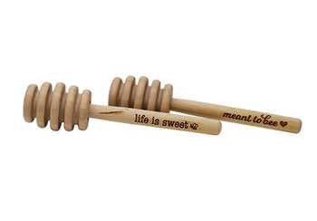 Engraved Wooden Honey Dipper