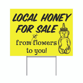 Local Honey for Sale Sign w/Stand [LH2-SN]