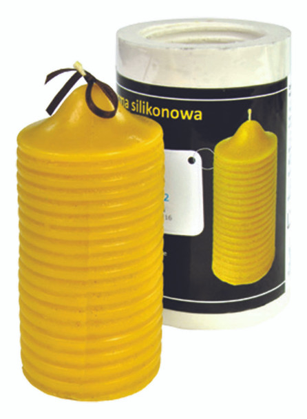 Striped Cylinder Candle Mold [FS52]