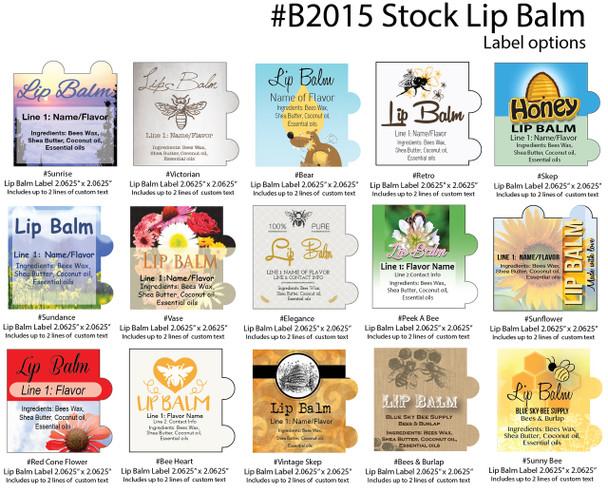 Stock Lip Balm Labels [B2015]