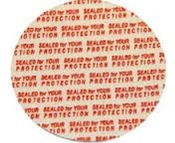 Additional Pressure Sensitive Seals for Plastic Caps (38mm) (200 count) [200-38mm]