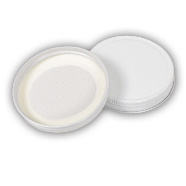 63mm White Metal Lids