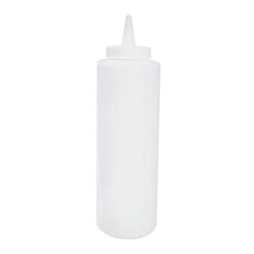 Winco - PSB-24C - 24 Oz Clear Squeeze Bottles Plastic 6/Pack
