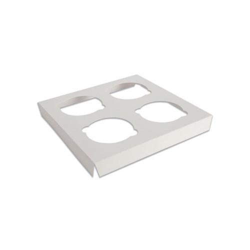 EB Box - EB-5281I - Cup Cake Insert for 4 White - 100/Pack