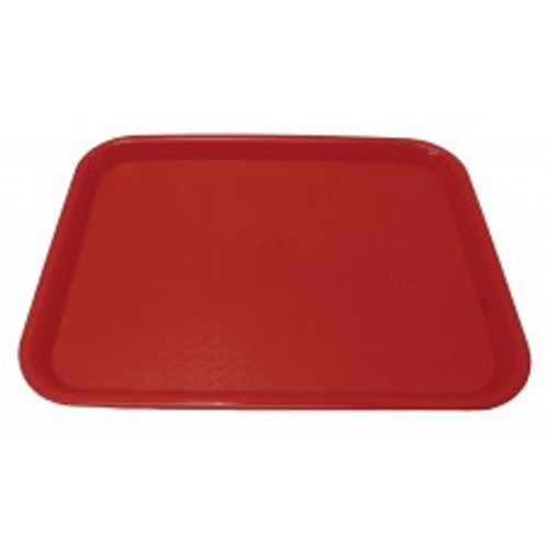 "Johnson Rose - 86122 - Plastic Food Service Tray Red 12"" X 16"" 12/Pack"