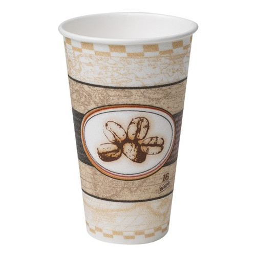 Dixie - 5356BE - PerfecTouch - 16 oz Beans Insulated Hot Paper Cup - 1000/Case