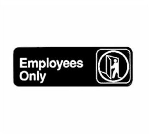 """Winco - SGN-305 - 3""""X9"""" Employee Only Sign 1 UNIT/Each"""
