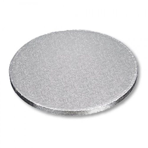 """Enjay - 1/2-14RS12 - 14"""" X 1/2"""" Thick Round Cake Board  - Silver 6/Pack"""