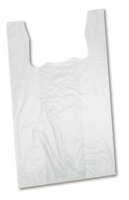S5HD - T Shirt Shopping Bags High Density White 1000/Case
